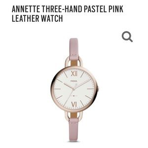 Annette 3-hand Rose Gold Fossil Watch - 2 bands!